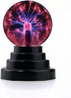 RioRand Plasma Ball Lamp Light [Touch Sensitive] Nebula Sphere Globe Novelty Toy - USB or Battery Powered