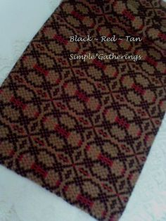 """BLACK ~ RED ~ TAN THE PATRIOTS KNOT WOVEN TABLE RUNNER 54"""" x 13"""" Cotton-Acrylic  #Unbranded"""