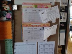 Way to organize kids' school/schedule stuff, with hanging file folders... great for small spaces!