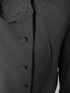 b3ec4671c173e Chado Ralph Rucci Black Three Dimensional Black Wool Jacket with Braiding
