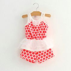 2Pcs Toddler Baby Girls Kids Dress T-shirt Tops+Shorts Pants Clothes Outfits Set