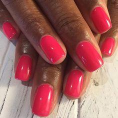Simple Gel Manicure's are always my favorite #blackgirlnails #gelnails