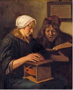 Steen Couple Reading the Bible(also known as Bijbellezend echtpaar (Echtpaar Steen)) - The Largest Art reproductions Center In Our website. Low Wholesale Prices Great Pricing Quality Hand paintings for saleJan Havicksz. Dutch Golden Age, Dutch Painters, Delft, Large Art, Art Reproductions, Art For Sale, Johannes Vermeer, Netherlands, Bible