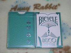 1 DECK Bicycle Deco Silver playing cards by Paul Carpenter