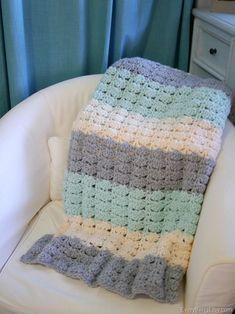 Easy Crochet Shell Stitch Blanket Pattern | Everything Etsy | Bloglovin'