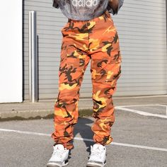 La Flame Camo Reworked Pants ($78) ❤ liked on Polyvore featuring pants, skinny trousers, brown slim pants, slim tapered pants, slim fit pants and camoflauge pants