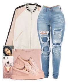 """""""Got a lil bounce to it"""" by princess-alexis18 ❤ liked on Polyvore featuring Monki, Givenchy, Casetify and Giuseppe Zanotti"""