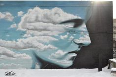 man in the sky  #grafitti