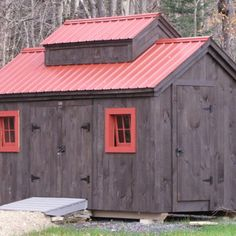 Jamaica Cottage Shop offers quality sheds for sale. Check out this sugar shack style shed that's perfect for storing garden tools, equipment & much more! Wood Storage Sheds, Wood Shed, Wooden Sheds For Sale, Small Prefab Cottages, Outdoor Garden Sheds, Cottage Kits, 8x12 Shed Plans, Roofing Options, Run In Shed