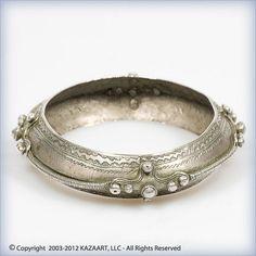 Old Tuareg Touareg Fancy Woman's Silver Bangle Bracelet Mali Africa | eBay