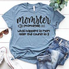 Momster Shirt Mom Shirt Funny Mom Shirt Gift for Mom Birthday Gift for Her Mom Life Tshirt Wom - Funny Mom Shirts - Ideas of Funny Mom Shirts - Momster Shirt Mom Shirt Funny Mom Shirt Gift for Mom Birthday Gift for Her Mom Life Tshirt Wom Funny Shirts Women, Funny Shirt Sayings, Shirts With Sayings, T Shirts For Women, Funny Quotes, Mom Sayings, Shirt Quotes, Mothers Day Shirts, Mom Shirts
