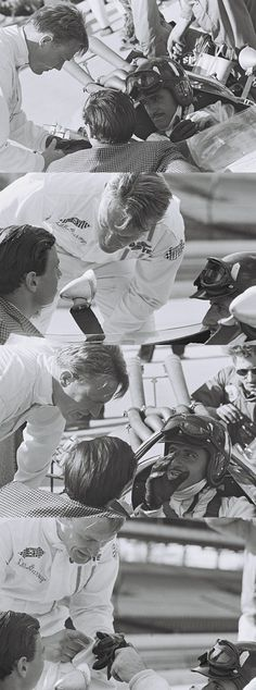 Dan Gurney, Jim Clark and Graham Hill at the 1967 Indy 500