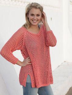 Strik en bluse i hulmønster | Femina