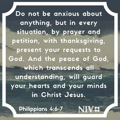 NIV Verse of the Day: Philippians 4:6-7