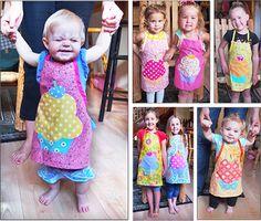 FREE easy kids cupcake apron pattern--super adorable!