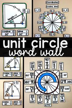 Teaching Geometry, Teaching Math, Circle Math, Math Word Walls, Math Poster, Precalculus, Math Courses, Algebra 2, Math Tutor