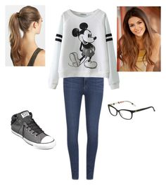 """""""Nerdy Style"""" by haleyhacker ❤ liked on Polyvore featuring Paige Denim, Converse, Gucci and France Luxe"""