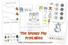Snow day preschool packs