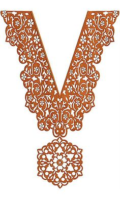V-Neck Dress Embroidery Design