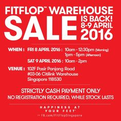 FitFlop Warehouse Sale 8 to 9 Apr 2016 - Why Not Deals