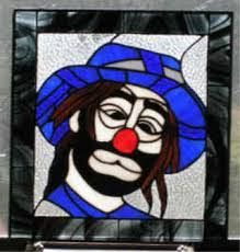 Image result for stained glass clowns