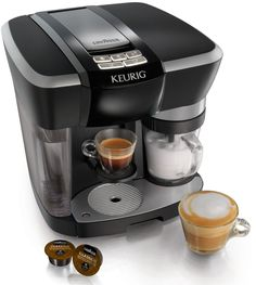 Keurig Rivo 500 Cappuccino & Latte System w/ Nifty 6650 Single Serve Coffee Baskets, Knox Handheld Milk Frother, and Café Moulu Espresso Set Cappuccino Maker, Espresso Maker, Espresso Coffee, Coffee Maker, Latte Maker, Joe Coffee, Nitro Coffee, Italian Espresso, Machine A Cafe Expresso
