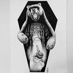 Design for @pantabasko #hunting #bear #marcinbrzezinski #stronghold #strongholdtattoo #art #tattooartist #tattooflash #edinburgh #iblackwork #customtattoo #tattoodesign #drawing #dotwork #newtattoo #tattoos #blackwork_publicity #ink #bw #blacktattoo #skull #bones #ink #blackink #iblackwork #blacktattooart #dark #darkart #goth #metal #coffin #blackworknow