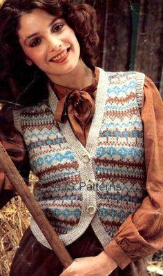 PDF Knitting Pattern for Ladies Pretty Fair by TheKnittingSheep