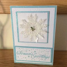Christmas card made with chole stamp and crafters companion die