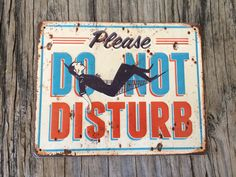 Vintage style tin metal sign // gift for him// by RinTinSignCO