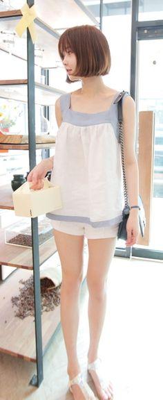 [Luxe Asian Women Dresses Fashion Style Korean Clothing top blouse shirt] Berlin Blouse