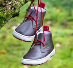 Emel Dark Brown Lace Up Trainers (2150-6) Handmade first shoes