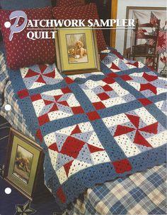 Patchwork Sampler Quilt, Annie's Crochet Quilt & Afghan Pattern Club Leaflet Crochet Quilt Pattern, Annie's Crochet, Crochet Afgans, Manta Crochet, Afghan Crochet Patterns, Quilt Patterns, Knitting Patterns, Patchwork Quilting, Quilts