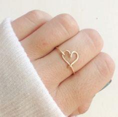 sweet handmade heart ring