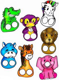MENTŐÖTLET - kreáció, újrahasznosítás: Ujjbábok papírból Craft Activities For Kids, Preschool Crafts, Toddler Activities, Crafts For Kids, Finger Puppet Patterns, Puppet Making, Operation Christmas Child, Jungle Party, Paper Toys