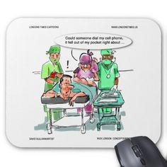 #Proctologist Loses #CellPhone #Funny #MousePad @LTCartoons @zazzle #pinterest #computer #gift #sale #humor #proctology