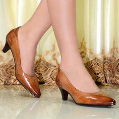 leather women shoes