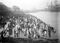 At chandapal ghat,Hooghly river, Calcutta,
