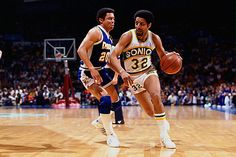 """Sonics forever — """"Downtown"""" Fred Brown.   Growing up this was my favorite player.   Remember imitating him alot."""