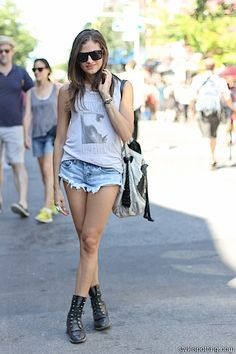 Milan in NYC's certified summer look #streetstyle