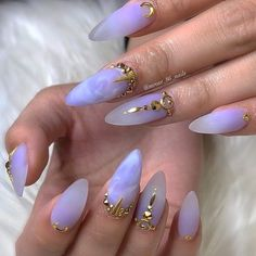 In look for some nail styles and ideas for your nails? Here is our list of must-try coffin acrylic nails for modern women. Aycrlic Nails, Glitter Nails, Hair And Nails, Coffin Nails, Purple Stiletto Nails, Neon Blue Nails, Gold Nail, Glitter Eyeshadow, Gold Glitter