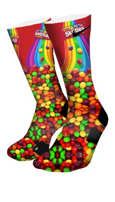 Skittles Custom Elite Socks - CustomizeEliteSocks.com - 4