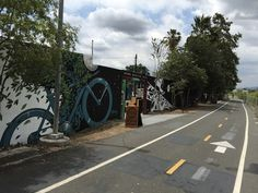 L.A. River Path at Spoke Bicycle Cafe in Los Angeles, CA.