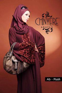 Abaya - plush - Chinyere Abayas  http://egirlsclub.com/abaya-trends-in-pakistan-latest-abaya-collection-by-chinyere-abaya/