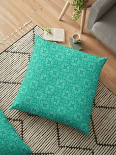 """Mint Leaf #1"" Floor Pillow by Kettukas | Redbubble Glitter Floor, Blue Glitter, Glitter Wedding, Blue Wedding, Aries Birthstone, Floor Pillows, Throw Pillows, Wedding Pins, Pillow Design"