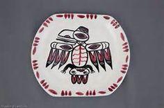 David Lambert Pottery-Raven plate #11