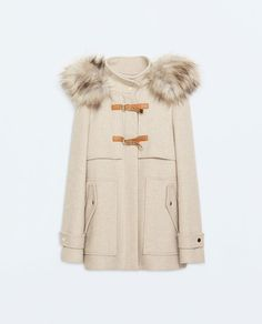 TRENCH FOURRURE CAPUCHE Zara