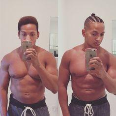 Changed up my look with #cornrows #fade and #manbun. #blackguy #haircut #hairstyle #braids #blackmenshair