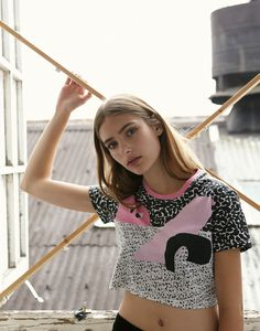 Abstraction Crop Top Lazy Oaf.