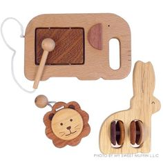Eco-Wooden 3pcs Musical Instrument Set